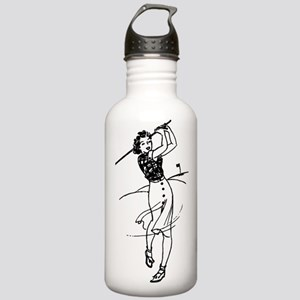 Vintage Golf Lady Stainless Water Bottle 1.0L