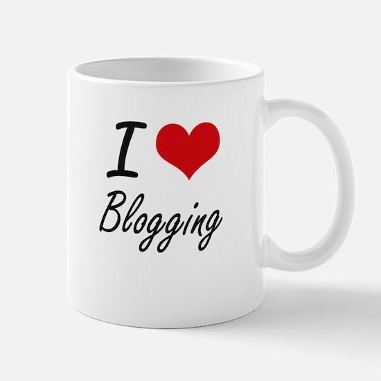 I Love Blogging artistic Design Mugs