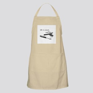 Life is Short, Art Long Pencil Sketch Apron
