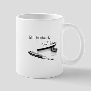 Life is Short, Art Long Pencil Sketch Mugs