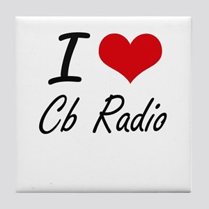 I Love Cb Radio artistic Design Tile Coaster