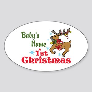 Personalize Babys 1st Christmas Sticker