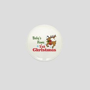 Personalize Babys 1st Christmas Mini Button
