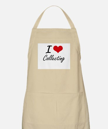 I Love Collecting artistic Design Apron