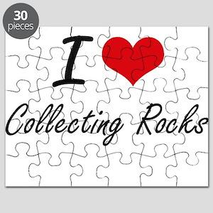 I Love Collecting Rocks artistic Design Puzzle
