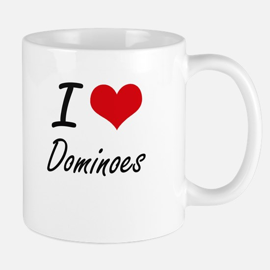 I Love Dominoes artistic Design Mugs