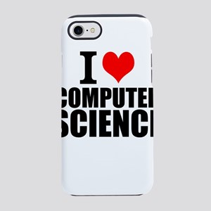 I Love Computer Science iPhone 8/7 Tough Case