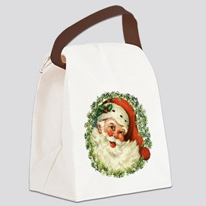 Vintage Santa Canvas Lunch Bag