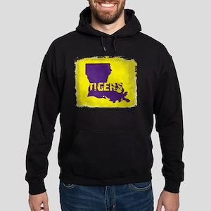 Louisiana Rustic Tigers Hoodie (dark)