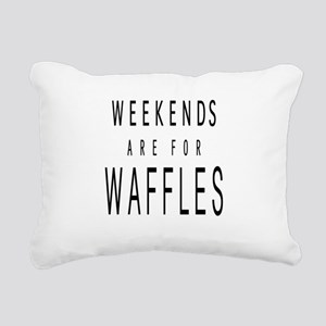 WEEKENDS ARE FOR WAFFLES Rectangular Canvas Pillow