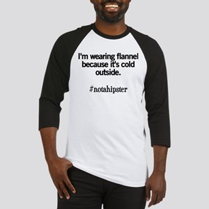 Not A Hipster Flannel Baseball Jersey