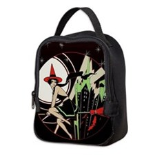 Halloween Witch Flying (vintage Neoprene Lunch Bag