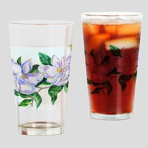 Lavender Magnolias Drinking Glass