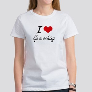 I Love Geocaching artistic Design T-Shirt