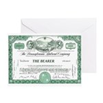 PRR 1959 Stock Certificate Greeting Card