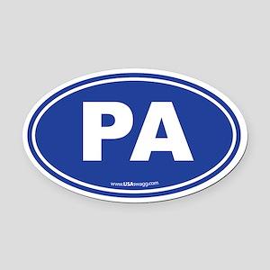 Pennsylvania PA Euro Oval Oval Car Magnet