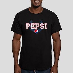 Pepsi Varsity Wreath Men's Fitted T-Shirt (dark)