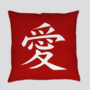 The word LOVE in Japanese Kanji Sc Everyday Pillow