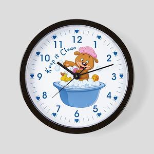 Keep It Clean - Wall Clock