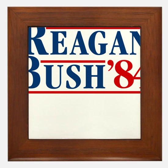 Cute President reagan Framed Tile