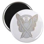 White Awareness Ribbon Angel Magnets