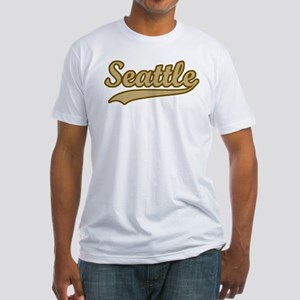 retro Seattle Fitted T-Shirt