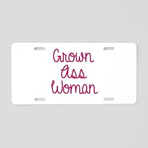 Grown Ass Woman Aluminum License Plate
