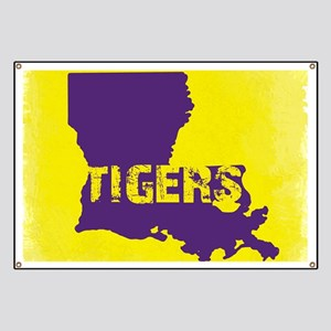 Louisiana Rustic Tigers Banner