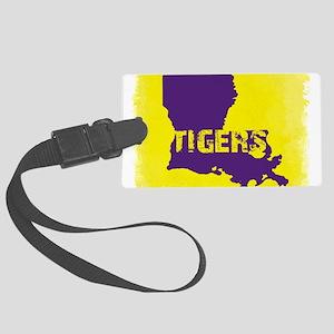 Louisiana Rustic Tigers Large Luggage Tag
