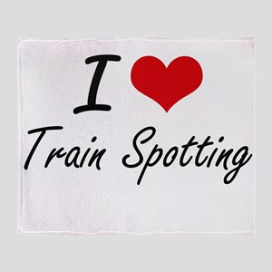 I Love Train Spotting artistic Desig Throw Blanket