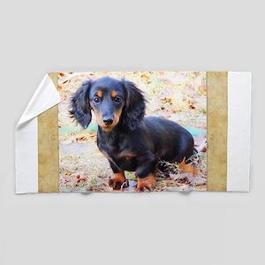 Puppy Love Doxie Beach Towel