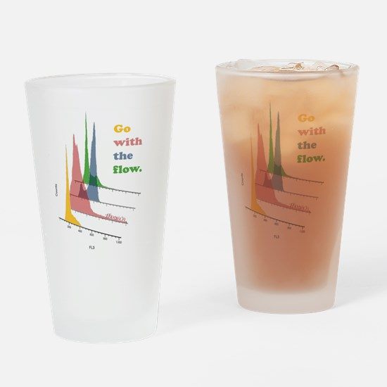 Go with the flow-cytometry Drinking Glass
