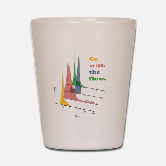 Go with the flow-cytometry Shot Glass