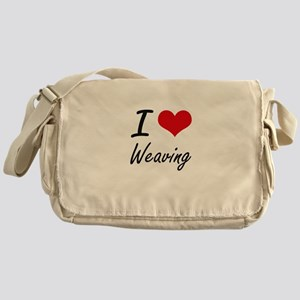 I Love Weaving artistic Design Messenger Bag