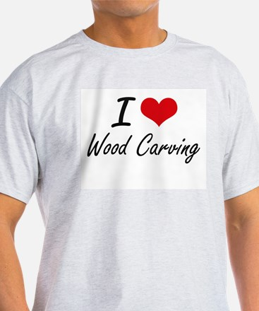 I Love Wood Carving artistic Design T-Shirt