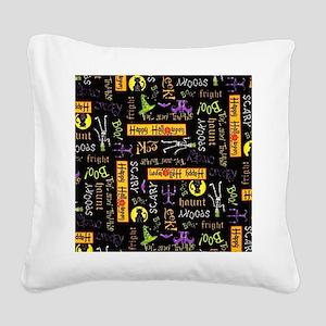 Happy Halloween III Square Canvas Pillow