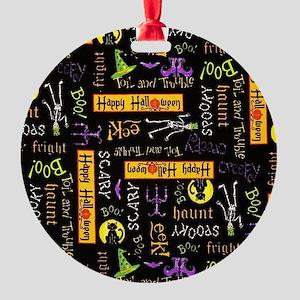 Happy Halloween III Round Ornament