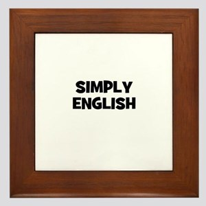 Simply English Framed Tile