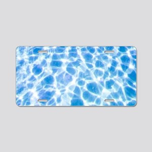 Dappled Water Aluminum License Plate