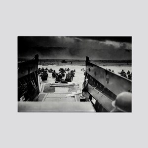 D-Day Landing Rectangle Magnet