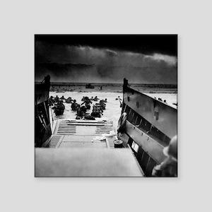 "D-Day Landing Square Sticker 3"" x 3"""