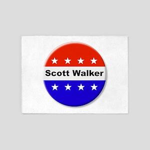 Vote Scott Walker 5'x7'Area Rug