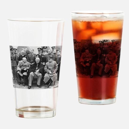 The Big Three Drinking Glass