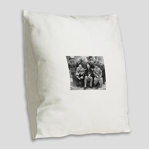 The Big Three Burlap Throw Pillow