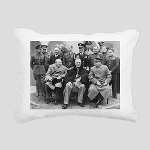 The Big Three Rectangular Canvas Pillow