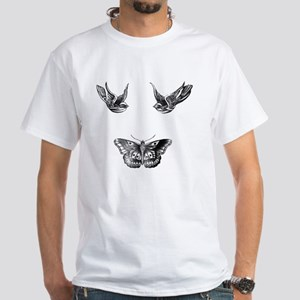 Harry Styles Tattoos White T-Shirt