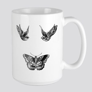 Harry Styles Tattoos Large Mug