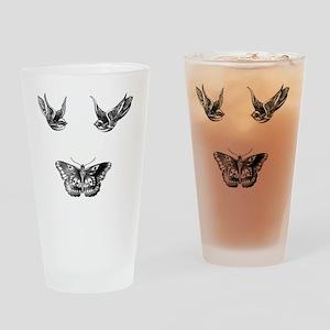Harry Styles Tattoos Drinking Glass