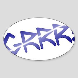 leather pride GRRR! Oval Sticker