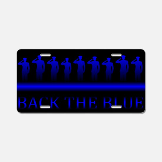 Cute The thin blue line Aluminum License Plate
